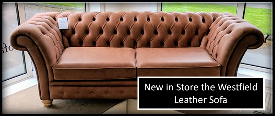 Westfield Leather Sofa chesterfield style in light brown leather
