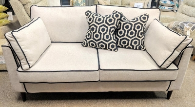 Manchester 2 seater full back sofa piped