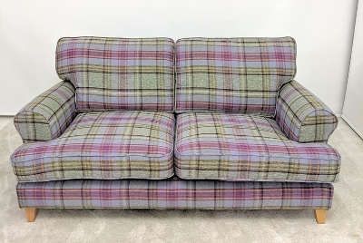 Hebden check 3 seater full back sofa