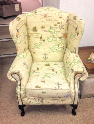 Galapagos Island wing chair