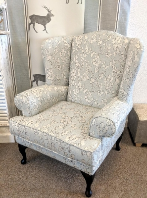Wing Chair in Eucalyptus