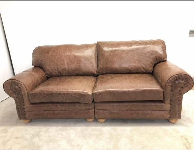 Richmond leather 3 seater sofa