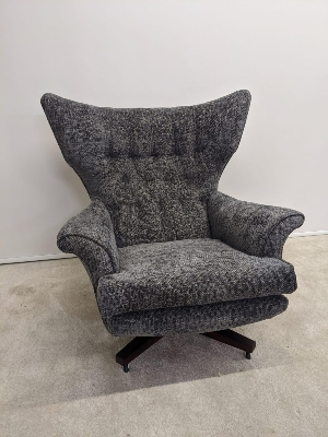 Genuine 1960's G  plan refurbished Blofeld swivel chair